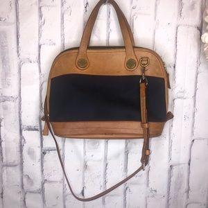 Vintage Dooney & Bourke Cabriolet Leather canvas